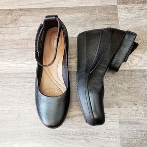 ClarksClarene Tide Ankle Strap Wedge Black
